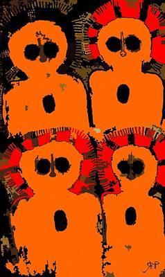 Paranormal Digital Art - Ancient Aboriginal Aliens by Raphael Terra