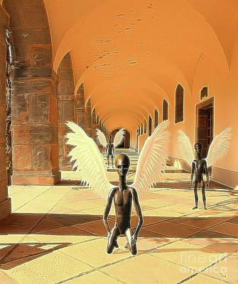 Science Fiction Royalty-Free and Rights-Managed Images - Ancient Alien Angels by Raphael Terra