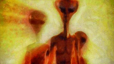 Strange Days Painting - Ancient Aliens by Esoterica Art Agency
