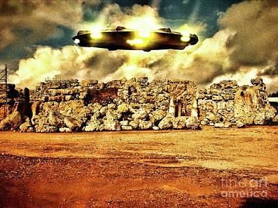 Ancient Aliens Visit Malta By Raphael Terra Art Print