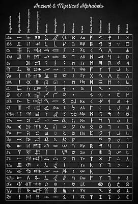 Digital Art - Ancient Alphabets by Taylan Apukovska