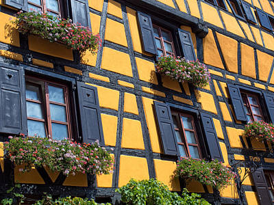 Ancient Alsace Auberge Art Print