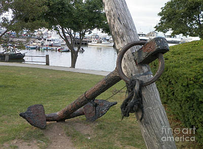 Ancient Anchor In Plymouth Massachusetts Art Print by Gina Sullivan