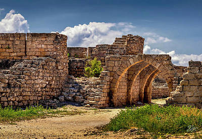 Photograph - Ancient Arches In Caesarea by Endre Balogh