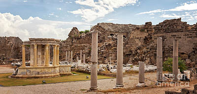 Commercial Archeology Photograph - Ancient Architecture In Side Turkey by Sophie McAulay