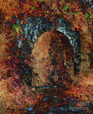 Ruins Mixed Media - Ancient Archway by Callan Percy