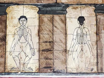 Digital Art - Ancient Art Murals At Wat Pho by Helissa Grundemann