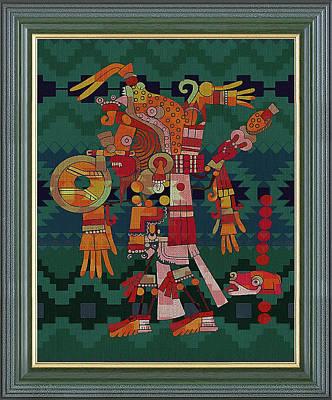 Digital Art - Ancient Aztec Art by Clive Littin