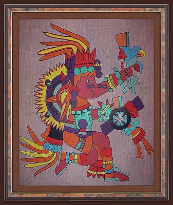 Digital Art - Ancient Aztec God by Clive Littin