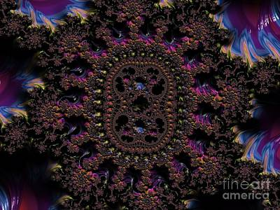 Digital Art - Ancient Aztec Medallion Fractal Abstract by Rose Santuci-Sofranko