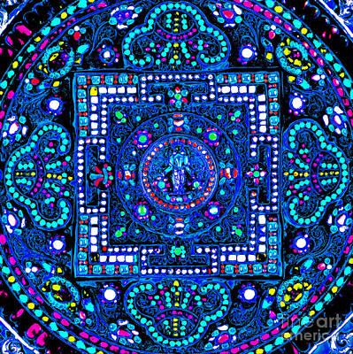 Digital Art - Ancient Bejeweled Nepalese Mandala by Peter Gumaer Ogden