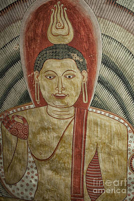 Photograph - Ancient Buddha Painting In A Cave by Patricia Hofmeester