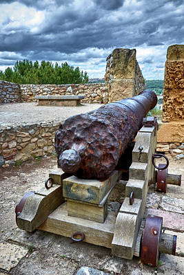 Photograph - Ancient Cannon At The Roman Walls In Tarragona by Eduardo Jose Accorinti