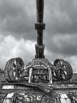 Photograph - Ancient Cannon In Black And White by Gill Billington