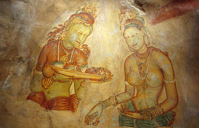Concubine Photograph - Ancient Cave Wall Paintings Depicting by Jason Edwards
