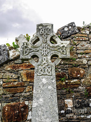 Photograph - Ancient Celtic Cross by Lexa Harpell
