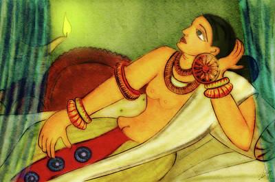 Ancient Ceylon Royal Lady Original