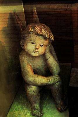 Photograph - Ancient Cherub by Susan Vineyard