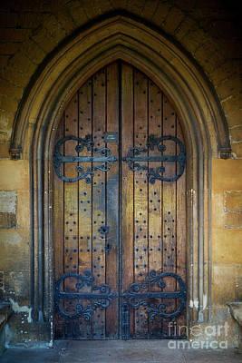 Watercolor Butterflies - Ancient Church Door by Brian Jannsen