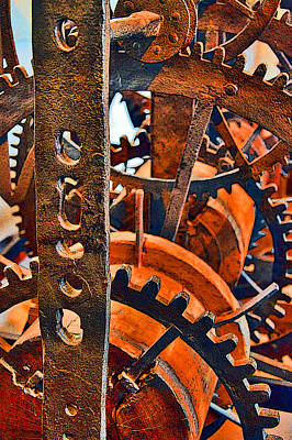 Russian Icon Digital Art - Ancient Clock Mechanism. by Andy Za