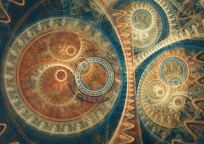 Digital Art - Ancient Clockwork by Martin Capek
