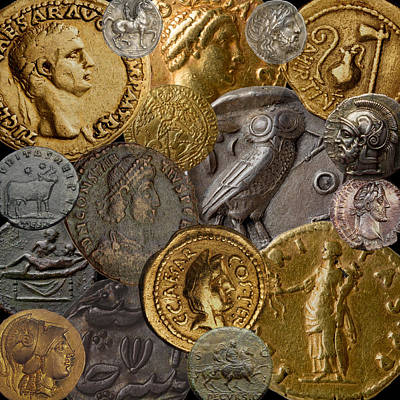 Photograph - Ancient Coins 1 by Andrew Fare