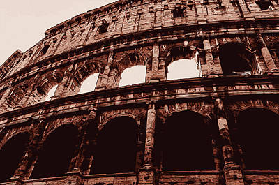 Painting - Ancient Colosseum, Rome by Andrea Mazzocchetti