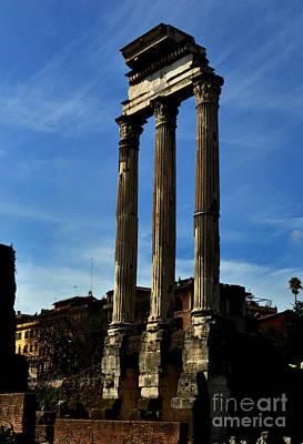 Photograph - Ancient Columns In Rome by Eric Liller