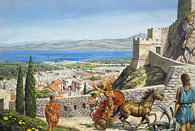Greek Painting - Ancient Corinth by Roger Payne