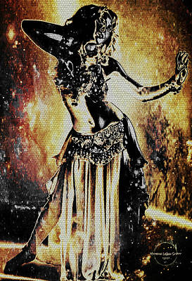 Digital Art - Ancient Cosmic Fire Dance by Absinthe Art By Michelle LeAnn Scott