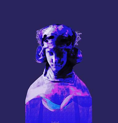 Digital Art - Ancient Damsel by Asok Mukhopadhyay