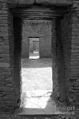 Photograph - Ancient Doorway Black And White by Adam Jewell