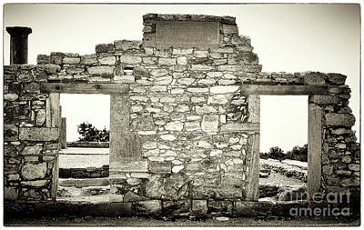 Cypriotic Photograph - Ancient Doorway by John Rizzuto