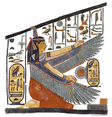 Egyptian Goddess Painting - Ancient Egyptian Goddess Maat by Ben  Morales-Correa