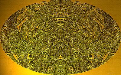Egyptian Art Digital Art - Ancient Egyptian Hieroglyphics by Wayne Bonney
