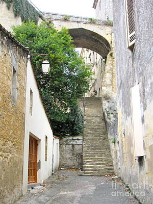 Photograph - Ancient French Stairway by Barbara Plattenburg