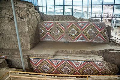 Mochica Photograph - Ancient Frescos In Huaca De La Luna In Trujillo, Peru by Jess Kraft