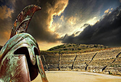 Stormy Photograph - Ancient Greece by Meirion Matthias