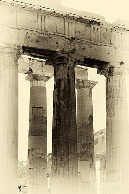 Photograph - Ancient Greek Columns by John Rizzuto