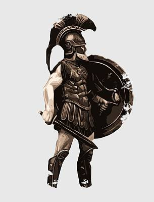 Painting - Ancient Greek Hoplite by Andrea Mazzocchetti