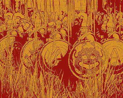 Digital Art - Ancient Greek Infantry by Andrea Mazzocchetti