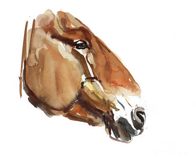 Portraits Painting - Ancient Head  Przewalski by Mark Adlington
