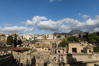 Photograph - Ancient Herculaneum Ruins - Sunny Afternoon From Above by Georgia Mizuleva