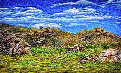 Digital Art - Ancient Hills by Joel Bruce Wallach