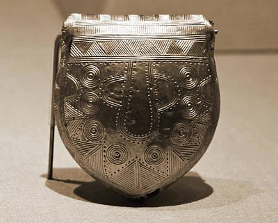 Photograph - Ancient Irish Gold Bulla Amulet Late Bronze Age County Kildare Ireland Sepia by Shawn O'Brien
