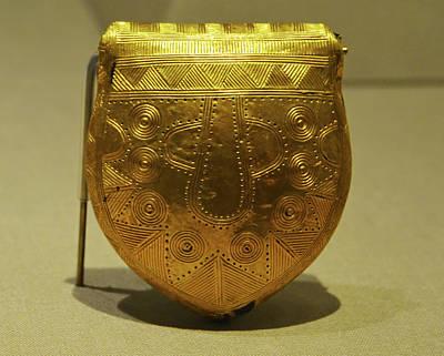Celtic Photograph - Ancient Irish Gold Bulla Amulet Late Bronze Age County Kildare Ireland by Shawn O'Brien