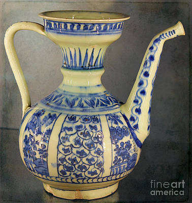 Photograph - Ancient Islamic Water Jug by Nina Silver