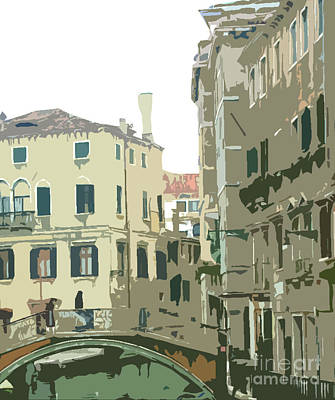 Ancient Italian Canal In Venice Art Print by Mindy Newman