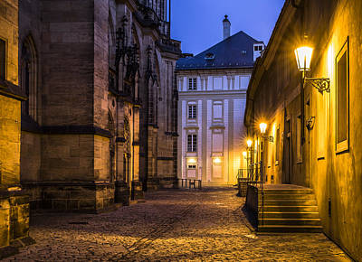 Ancient-like Dawn At Prague Castle Art Print by Marek Boguszak