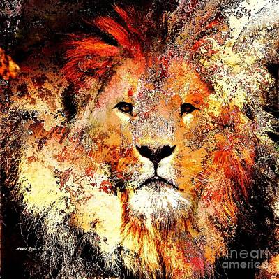 Photograph - Ancient Lion King by Annie Zeno